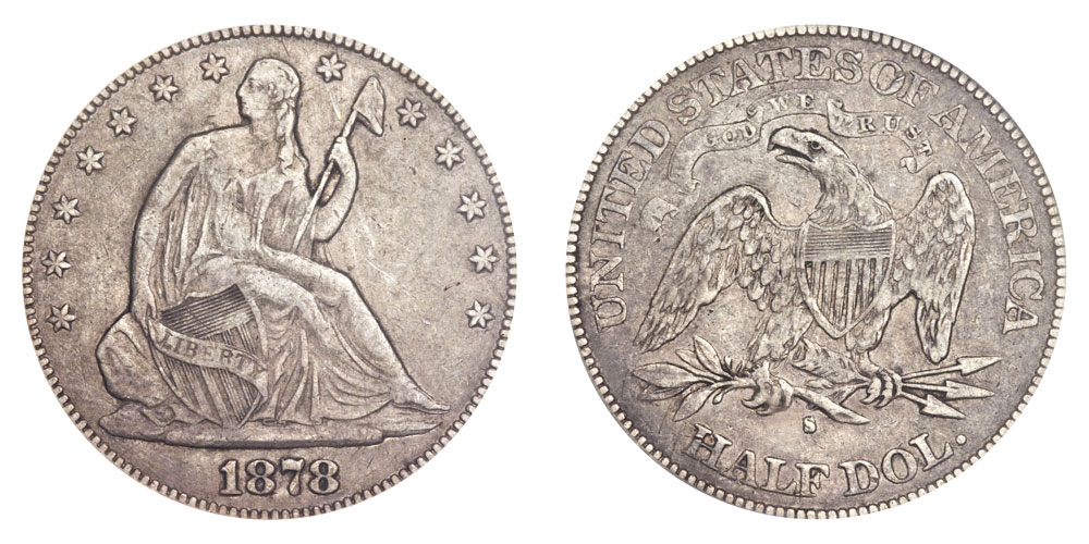 1878 S Seated Liberty Half Dollars Value And Prices