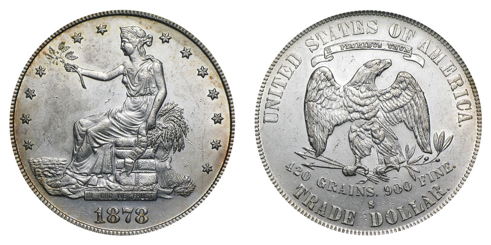 1878 S Trade Silver Dollars Value And Prices