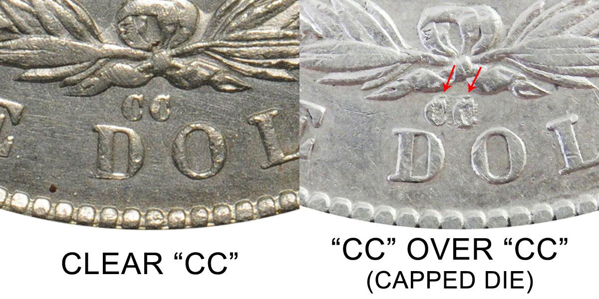 1879 Cc Morgan Silver Dollars Cc Over Cc Capped Die