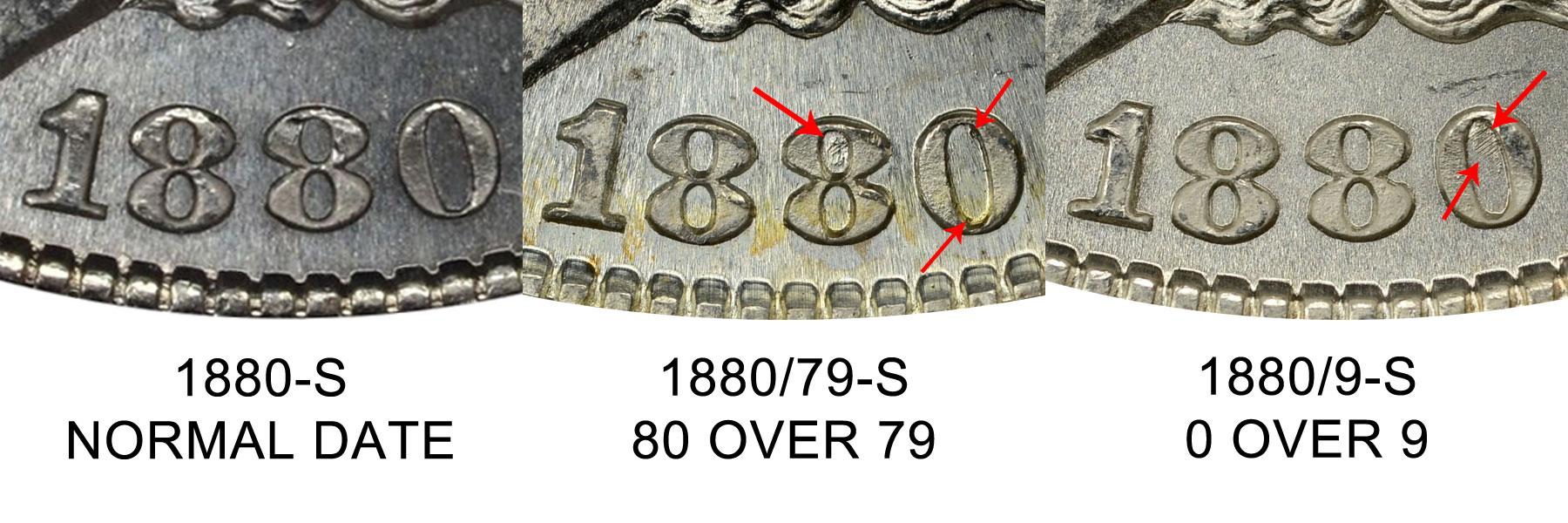 "1880 /""S/"" Morgan Silver Dollar"