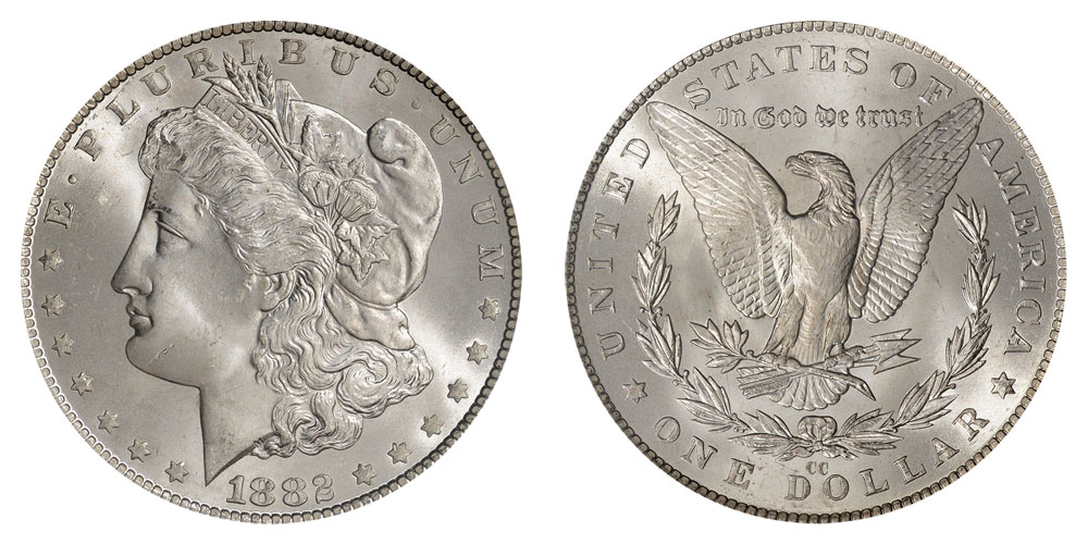 1882 Cc Morgan Silver Dollars Value And Prices