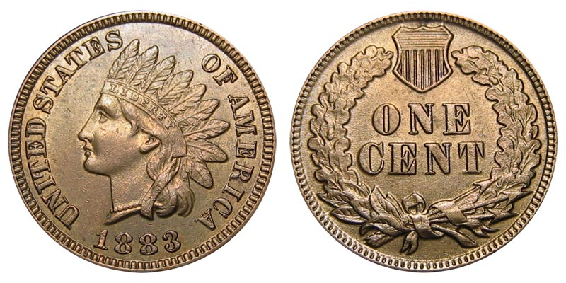1883 Indian Head Penny Coin Value Prices, Photos & Info