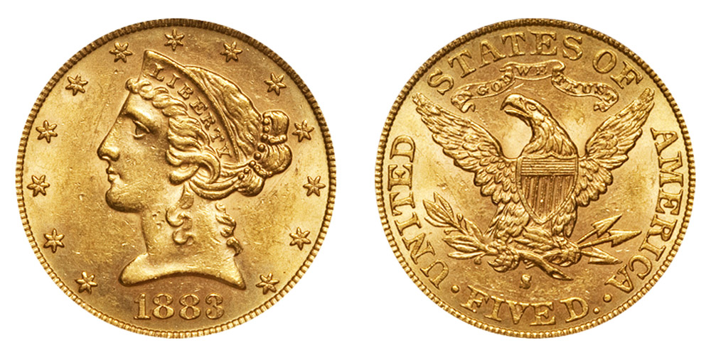 1883 twenty dollar gold coin value