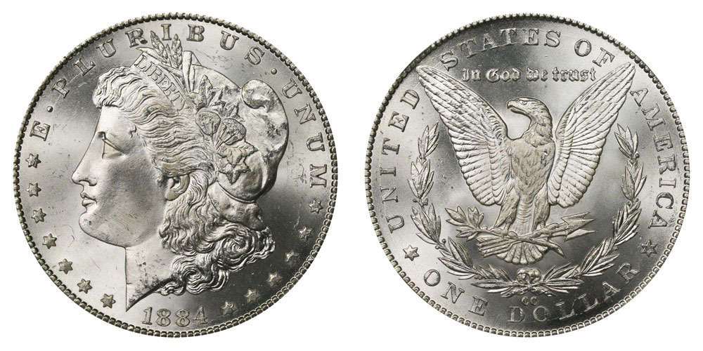 1884 CC Morgan Silver Dollar Coin Value Prices, Photos & Info