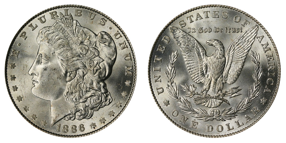 1886-P Morgan Silver Dollar 90/% Silver BU