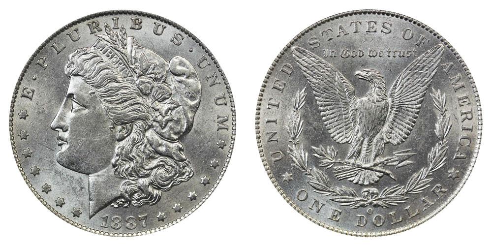 1887 O Morgan Silver Dollar Coin Value Prices, Photos & Info