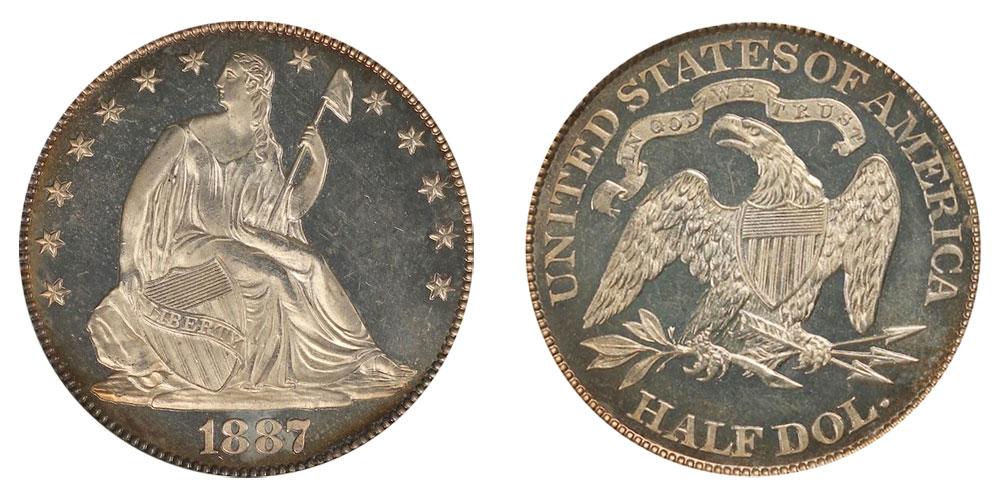1887 Seated Liberty Half Dollar Coin Value Prices, Photos & Info