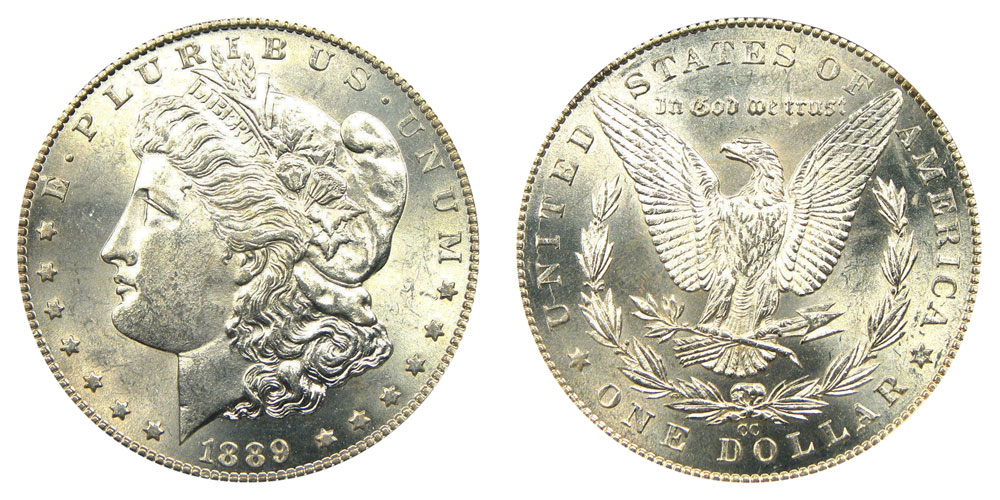1889 Cc Morgan Silver Dollars Value And Prices