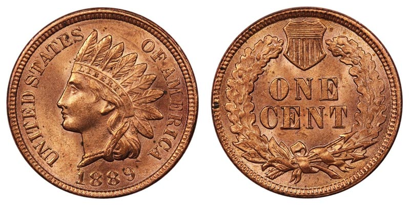 1889 Indian Head Penny Coin Value Prices, Photos & Info