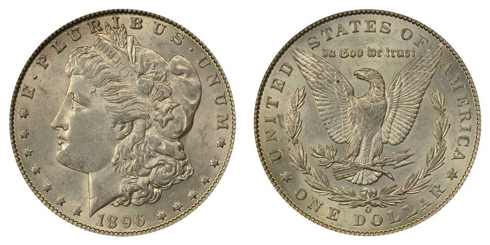 1896 O Morgan Silver Dollars Value And Prices