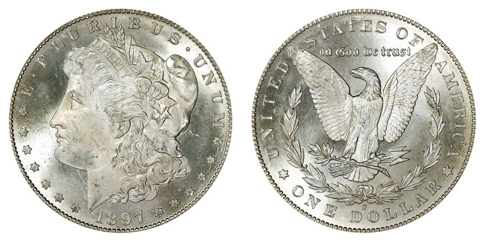 1897 U.S Morgan Silver Dollar