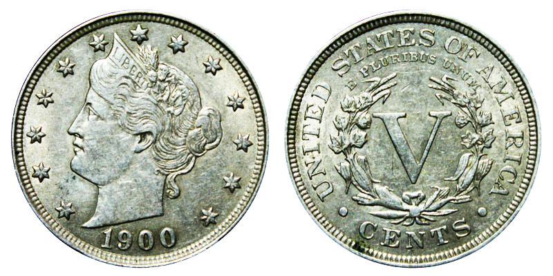 1900 Liberty Head Quot V Quot Nickel Value And Prices