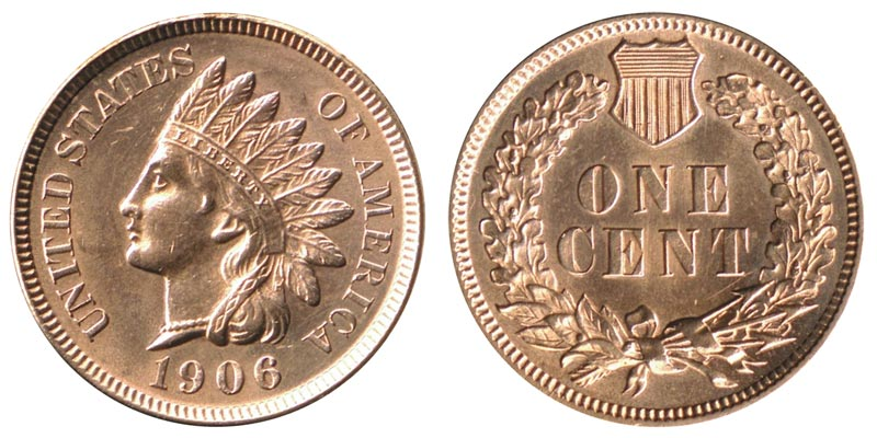 1906 Indian Head Penny Coin Value Prices, Photos & Info
