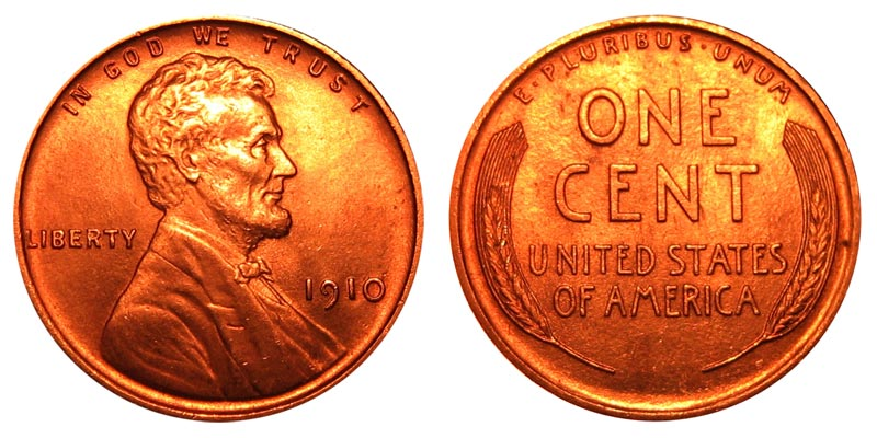 1910 Lincoln Wheat Cent Bronze Composite Penny Value And Prices