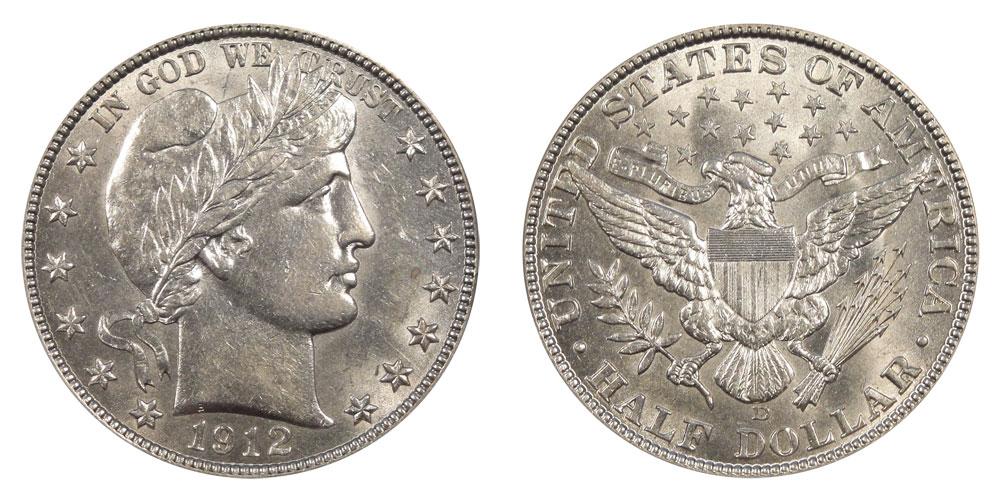 1912 D Barber Half Dollar Better Date