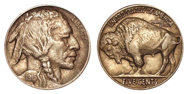 1915 Buffalo / Indian Head Nickel Coin Value Prices, Photos & Info