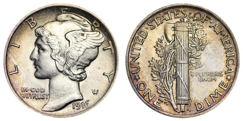1916 Mercury Silver Dime Coin Value Prices Photos Info