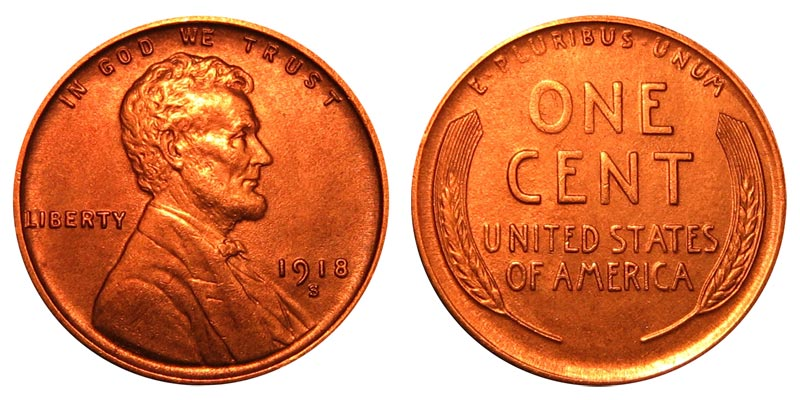 1917  LINCOLN WHEAT CENT #7