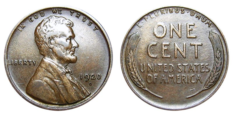 1920-D Lincoln Wheat Cent Good or Better Condition