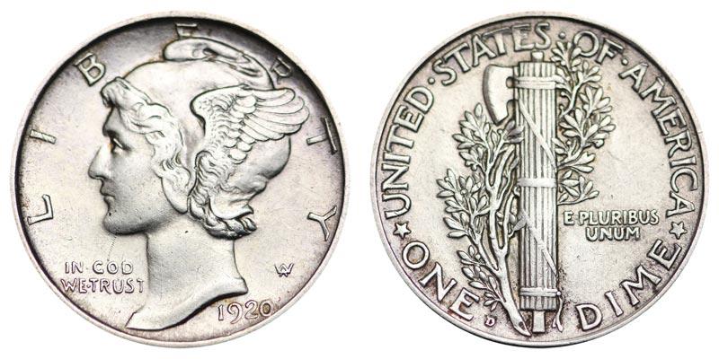 1920 D Mercury Silver Dime Coin Value Prices Photos Info