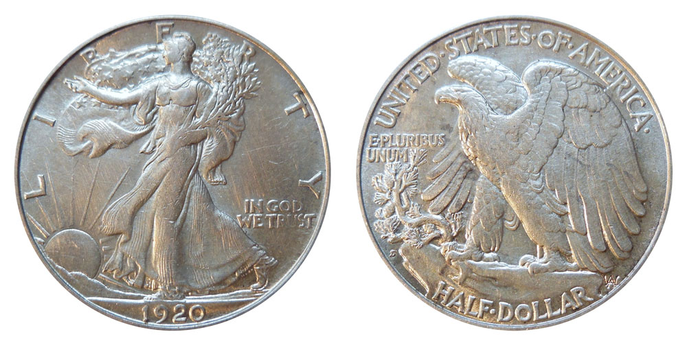 1920 S Walking Liberty Half Dollars Value And Prices
