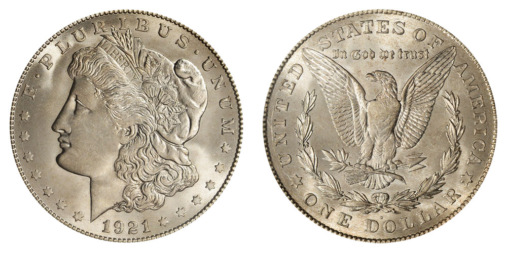 1921 d morgan silver dollars value and prices