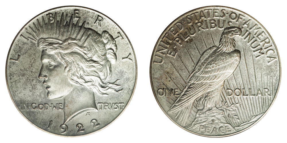 1922 Peace Silver Dollars High Relief Value And Prices