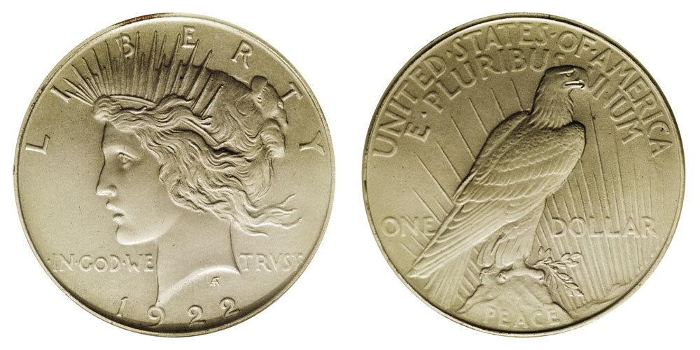 low relief matte proof peace dollar