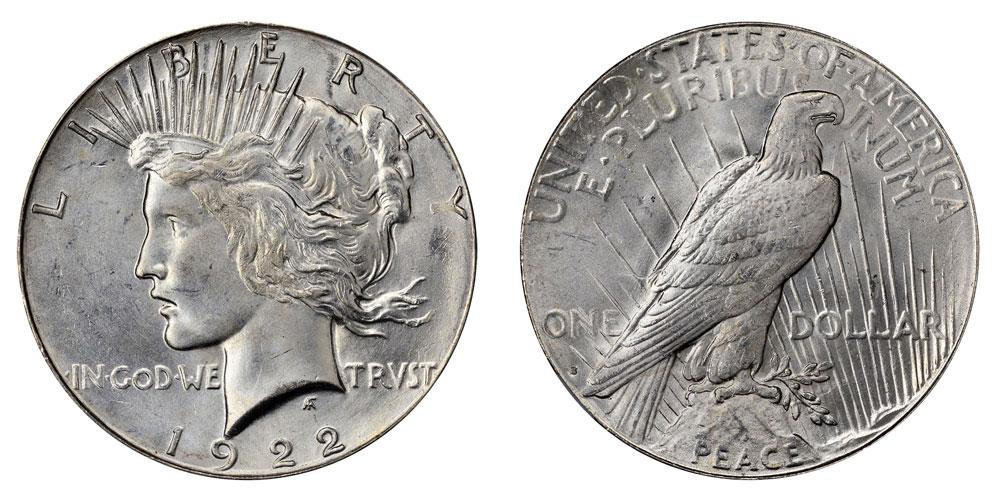 1922 S Peace Silver Dollar Coin Value Prices, Photos & Info