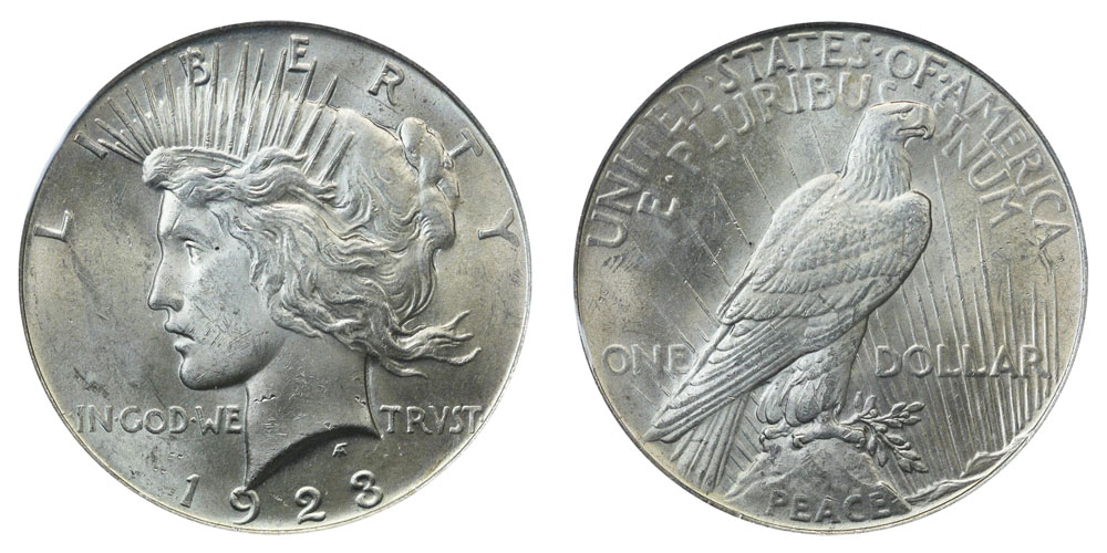 1923 Peace Silver Dollars Value And Prices