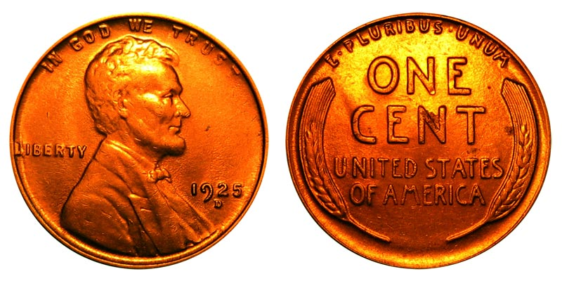 1925 Lincoln Wheat Penny Coin Value Prices Photos Amp Info