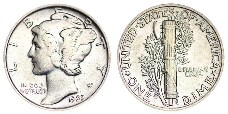 1925 Mercury Silver Dime Coin Value Prices, Photos & Info