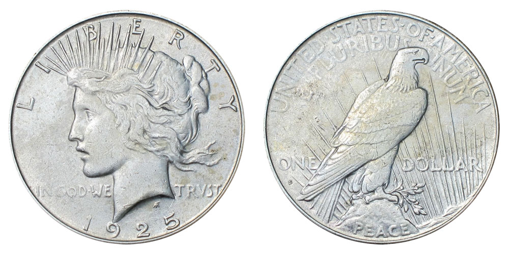 1925 S Peace Silver Dollars Value And Prices