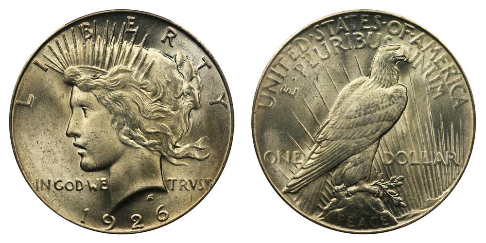 EXTRA FINE 90/% COIN! 1922-1926 PEACE SILVER DOLLAR VERY GOOD