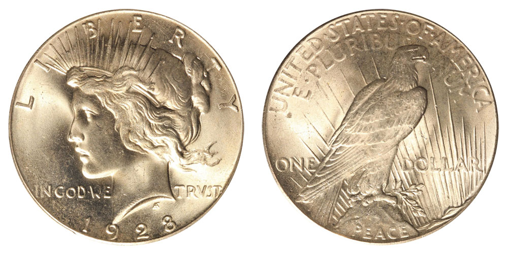 1928 Peace Silver Dollars Value And Prices
