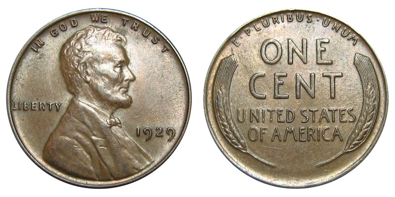 1929 D Lincoln Wheat Cent One Full Roll Circulated Denver