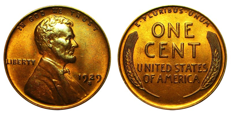 FREE AND PROMPT SHIPPING 1929 S LINCOLN WHEAT CENT