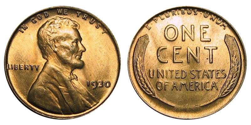 1930-S Lincoln Wheat Cent /</> Extra Fine XF