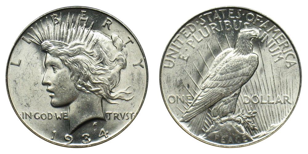 1934 D Peace Silver Dollar Coin Value Prices, Photos & Info