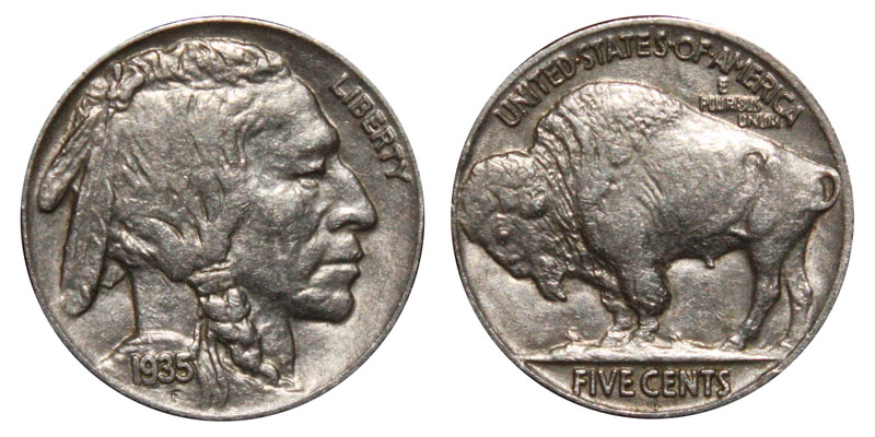 1930-S BUFFALO INDIAN NICKELS FULL DATE COINS VG-VF ONE ROLL//40 COIN