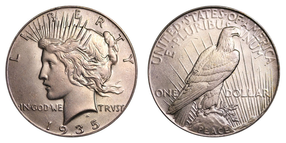1935 Peace Silver Dollars Value And Prices