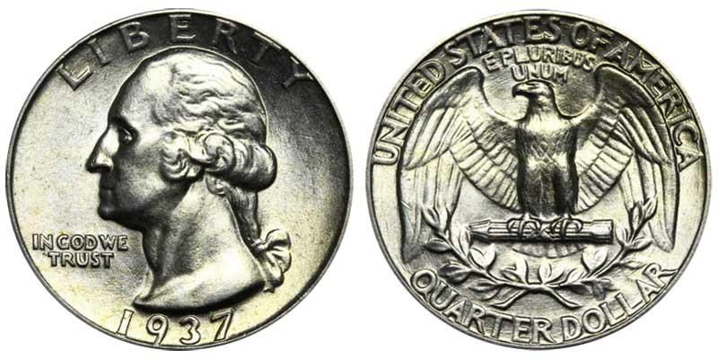 Extra Fine - 1937 Washington Quarter
