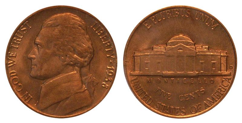1938 nickel no mint mark