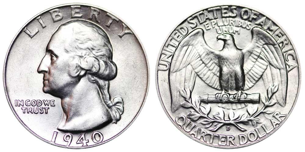 1939-D Washington Silver Quarter Grading in the AG//GOOD Range  DUTCH AUCTION