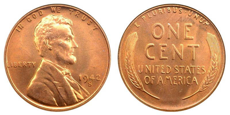 1942 S Lincoln Wheat Penny Coin Value Prices Photos Amp Info