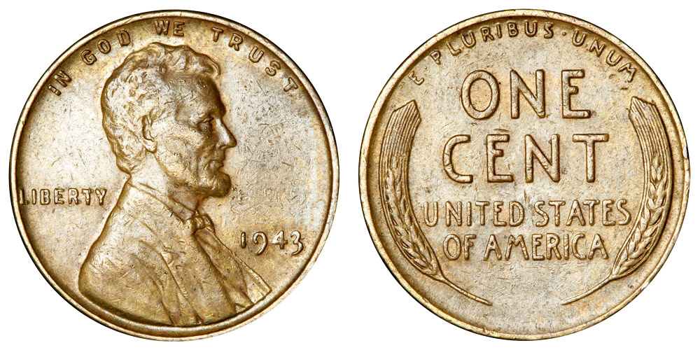 1943 Lincoln Wheat Penny Bronze/Copper Coin Value Prices, Photos & Info