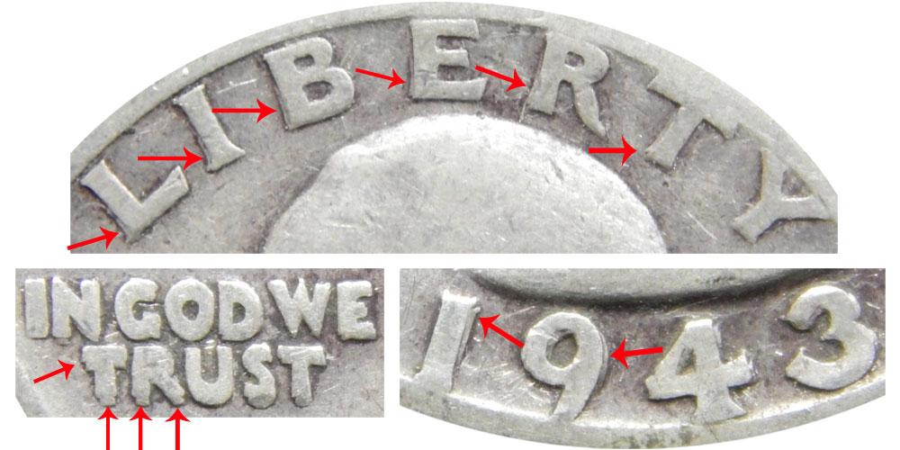 1943 S Washington Silver Quarter Doubled Die Obverse Coin Value
