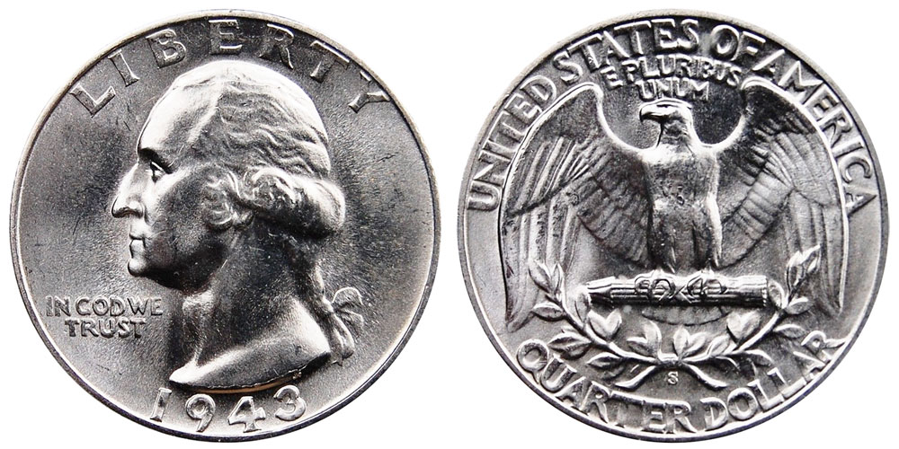 1943 S Washington Silver Quarters Value And Prices