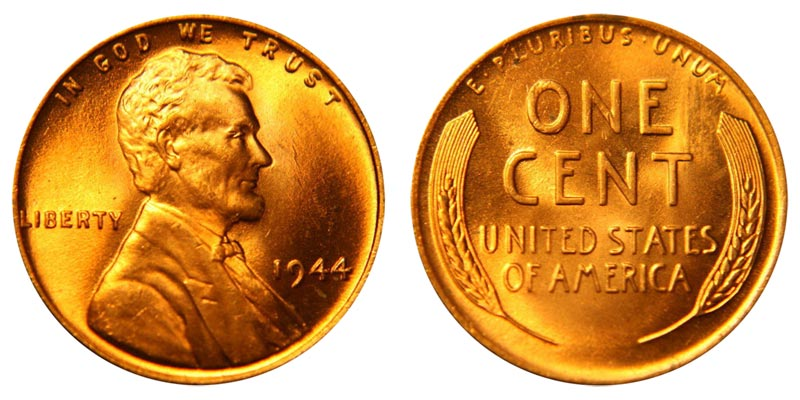 "1944-S  @  Lincoln Wheat *Unc/"" Penny"