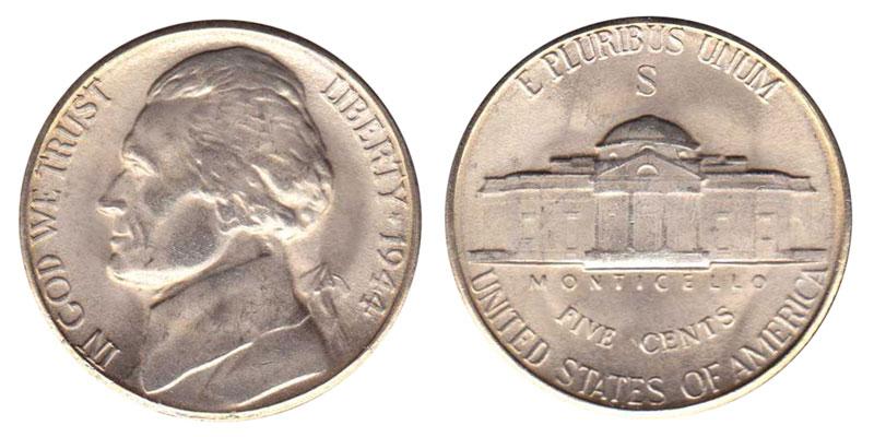 1944 S Jefferson Nickels